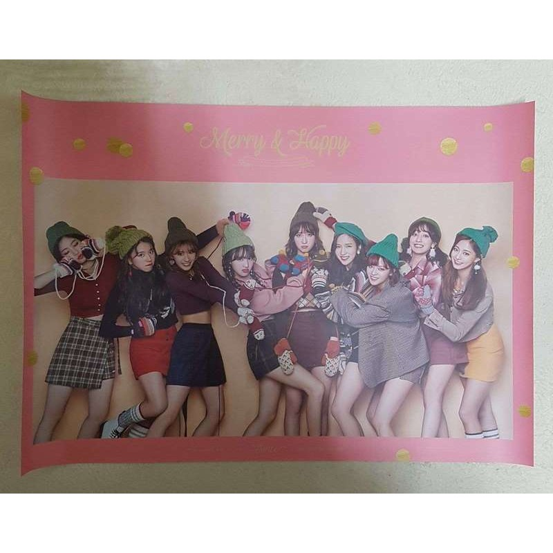AK-POP TWICE 1st Repackage Album [Merry & Happy] Happy Ver